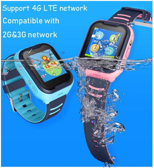 GPS033W - 4G Watch Video Video kalis air - Sokongan 4G LTE 2G 3G