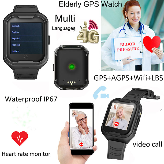 GPS034W - OMG Elderly Health Monitoring GPS Watch