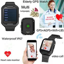 Vanhusten terveysseuranta GPS-kello (GPS034W) - S $ 298