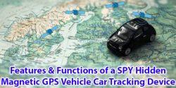 Paslėpto magnetinio GPS transporto priemonių automobilių sekimo įrenginio savybės ir funkcijos