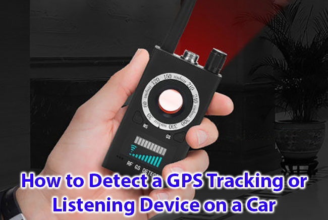 Cumu detect un GPS Tracking o Listing Device in una vittura