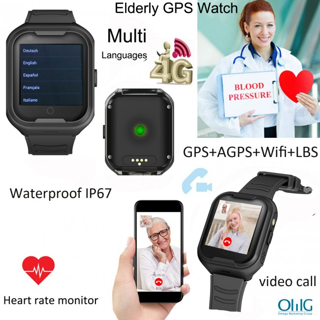 OMG Elderly Health Monitoring GPS Watch (GPS034W)