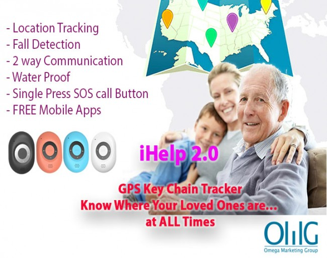 GPS040D - 3G-keychian-GPS-Tracking-Fall-Detection-Elderly-New