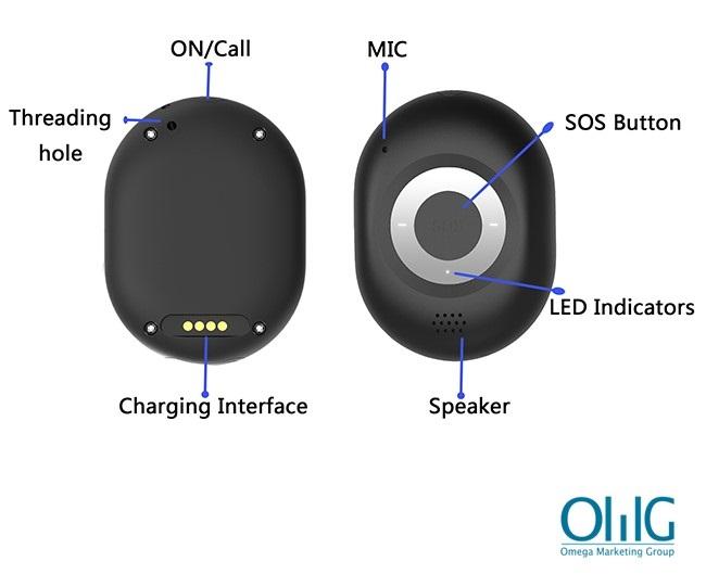 GPS040D - iHelp2.0 Пожилая деменция 4G Брелок для отслеживания GPS - новый интерфейс