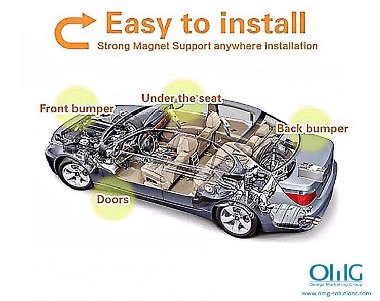 GPS051 - Portable GPS SPY Vehicle - Car Magnetic Tracker - Easy Installation (OMG-Solutions)