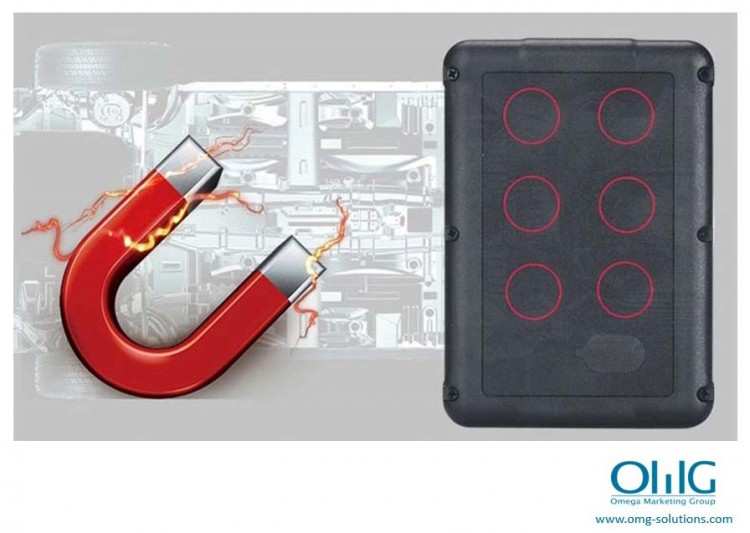 GPS051 - Portable GPS SPY Vehicle - Car Magnetic Tracker - Magnetic mounting (OMG-Solutions)