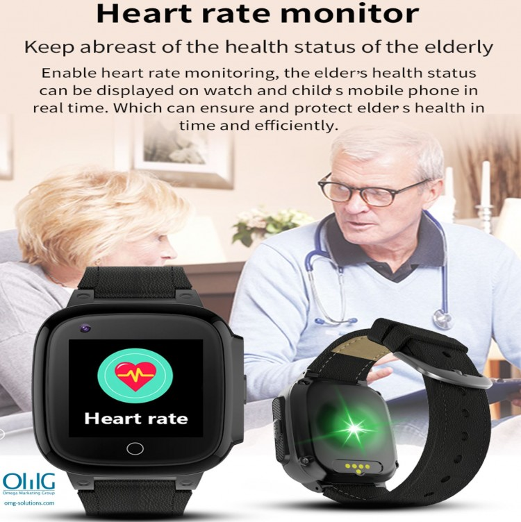 GPS052W - Elderly Health Monitoring GPS Watch - Watch Heart Rate Monitor