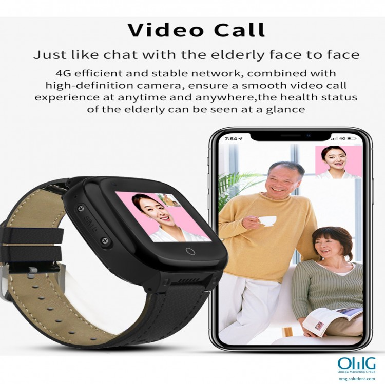 GPS052W - Elderly Health Monitoring GPS Watch - Watch Video Call Function