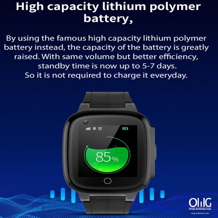 GPS052W - ຕິດຕາມສຸຂະພາບຜູ້ສູງອາຍຸ GPS Watch -Watch lithium Battery