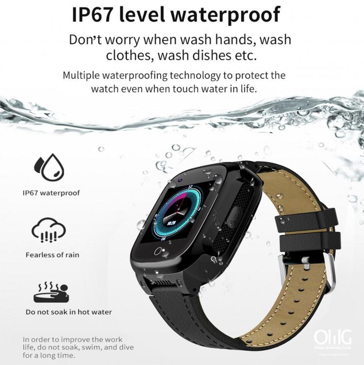 GPS052W - Vixilancia da saúde dos anciáns Reloxo GPS - Reloxo impermeable