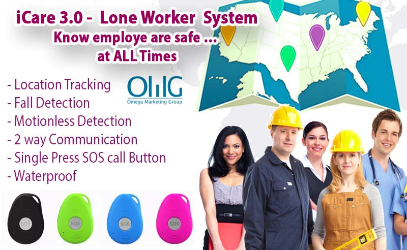iCare 3.0 – Man Down System – Lone Worker Employee Safety Solution