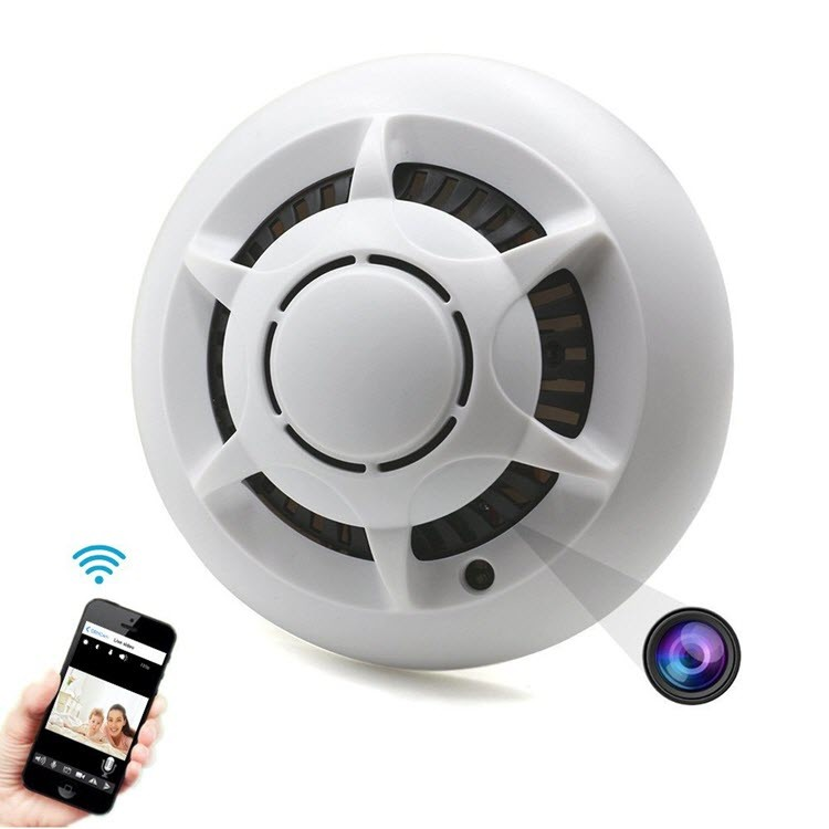 Hidden Spy WiFi Smoke Detector Camera – 720P HD, SD 32GB Max (SPY027)