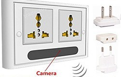 Mini 1080P WIFI HD SPY DVR Piilotettu IP-kamera Real Wall Socket Videotallennin Cam - 1 250px