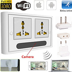 WIFI HD SPY DVR Kamera IP Tersembunyi Tanah Wall Socket Video Perakam Cam (SPY041)