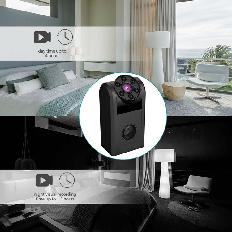 Mini Mini Camera Portable Spy - 720P, Battery: 1000mAh, Recording 4Hrs, Motion Detection, Night Vision (SPY17)