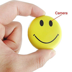Smile Face Nanny Cam - 720 x 480, SD 32GB Max, enregistrament 1hr, bateria 270mAh (SPY024)