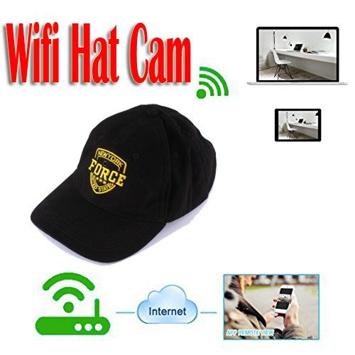 Càmera WIFI Spy Hat Camera MINI Covert Cap Cap Camcorder - HD720p, Bateria: 500mAh, (SPY38) - S $ 198
