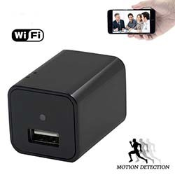 Wifi Spy Camera Charger Tersembunyi USB Adapter Pengecas Wall (SPY044)