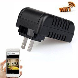 Wifi Spy Power Adaptor Power Adapter USB Wall Charger - 1080P HD, SDCard 32GB ສູງສຸດ, Motion Detection (SPY039)