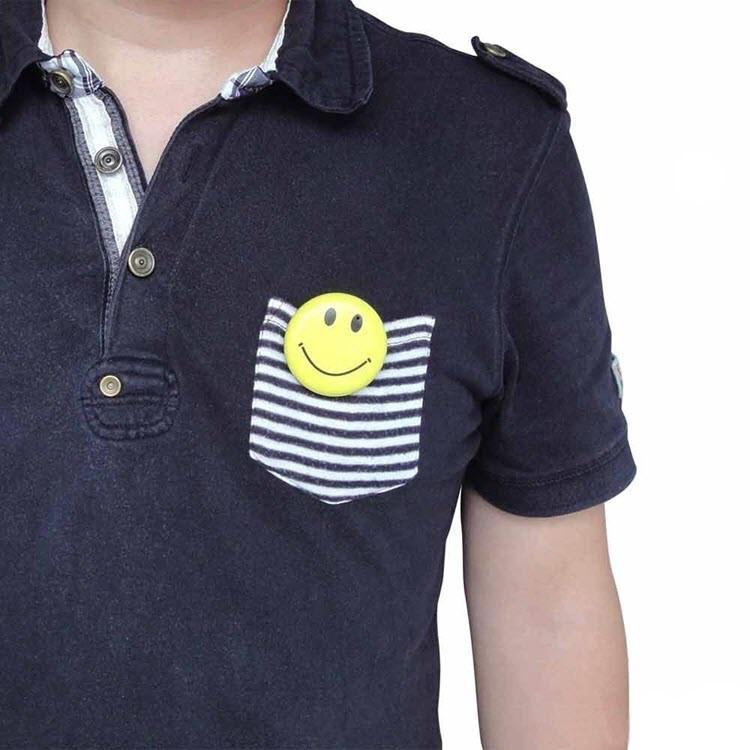 Yellow Color Smile Face Badge Hidden Camera - 4