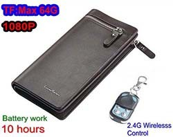 Camera Wallet, SD Card Max 32GB, 10dues, Wireless Remote Control (SPY052)