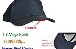 SPY Hat Camera DVR, 1.3 Mega Pixels, H.264, SD Card Max 32G, Life Long Life 150min - 1 250px