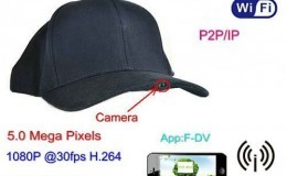 SPY055 - WIFI Hat Camera Video Recorder, 1080p, 5.0 Mega Pixels,H.264,P2PIP - 1