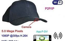 SPY055 - WIFI Hat Camera Video Recorder, 1080p, 5.0 Mega Pixels, H.264, P2PIP - 1 250px