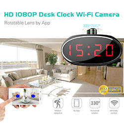 WIFI HD 1080 Camera Clock Desk (SPY061) - S $ 278