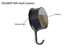 Security HD 720 WiFi Coat, Clothes Hook Hidden Camera - 1 250px
