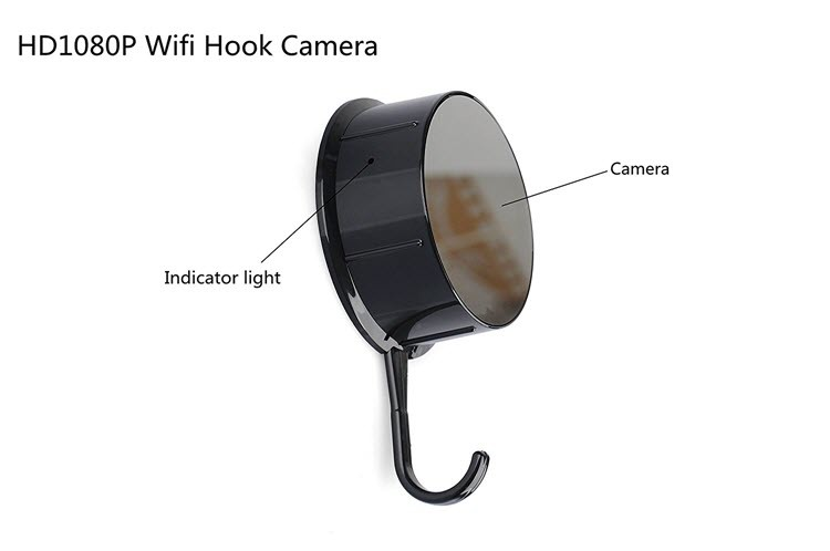 Security HD 720 WiFi Coat, Clothes Hook Hidden Camera - 1