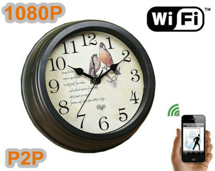 WIFI Clock Camera 1080P, TF Card, APP, Android & Iphone, 4000 battery - 1
