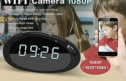 1080P WIFI Clock Camera, FHD 1080P, lent de gran angular de grau 158, H.264, Suport 64G - 1 250px