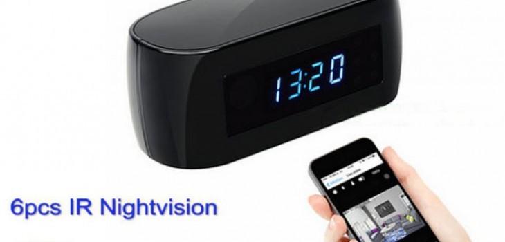 New WIFI clock camera, 12Mega pixel Camera,P2P,IP, H.264,1080p - 1