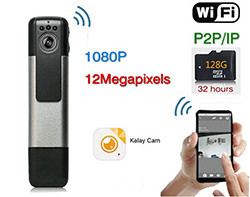 WIFI жолугушуусу Recording Pen, H.264,1080p, Motion Detection, SD карта Макс 128G (SPY091)