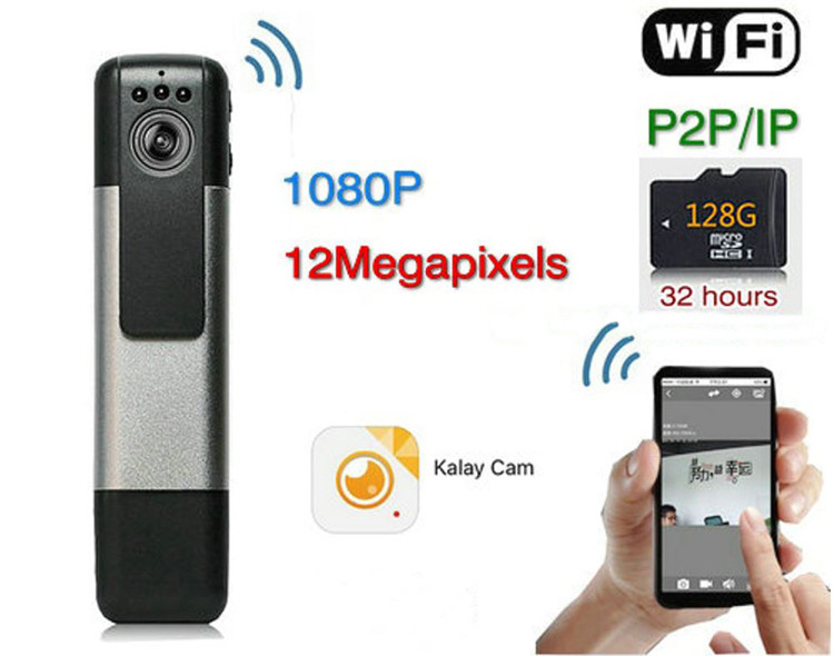 WIFI Bilera Grabaketa Pen, H.264,1080p, Motion Detection, SD Txartela Max 128G (SPY091)