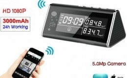Aerial Detector WIFI Clock Camera, 5.0MP,1080P,H.264 - 1