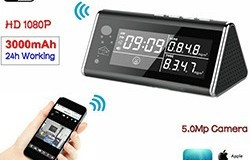 Detector Aéron WIFI Clock Camera, 5.0MP, 1080P, H.264 - 1 250px