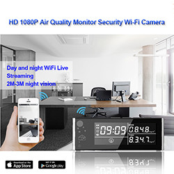 HD 1080P Air Quality Monitor Keselamatan Wi-Fi Camera (SPY109) - S $ 268