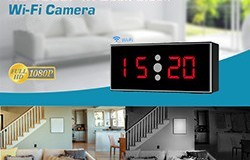 HD 1080P IR Desk Clock Wifi Kamera - 1 250px