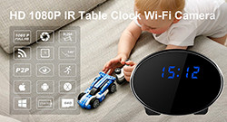 HD 1080P IR Table Clock Wi-Fi Camera - 1 250px