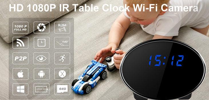HD 1080P IR Table Clock Wi-Fi Camera - 1