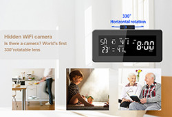 HD 1080P Weather Radio Security Wi-Fi Camera (SPY108) - S $ 98