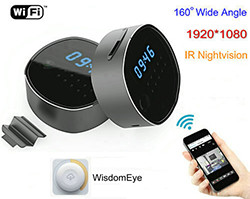 WIFI Clock Camera, HD1080P/H.264, Support SD Card 64GB, Nightvision (SPY104)
