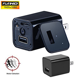 1080P HD USB Wall AC Plug Charger (SPY121) - S $ 49