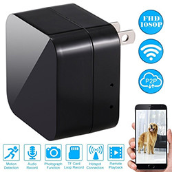 HD WIFI Charger Camera, 5.0M Camera / 1080p, WIFI / P2P / IP, TF Max 128G (SPY132) - S $ 198
