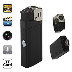 Mini Lighter Hidden Camera - Kev them nyiaj yug TF Card (SPY118)