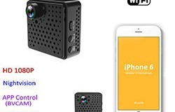 Mini WIFI-kamera DVR, 5.0Mega 160degree-kamera, Nightvision, SD Max128G - 1 250px
