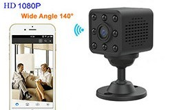 Mini WIFI Camera, HD1080P, H.264, 8 Meters Nightvision Afstand - 1 250px