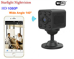 Mini WIFI-kamera, HD1080P / H.264, 8-mittarit Nightvision Distance (SPY131) - S $ 198